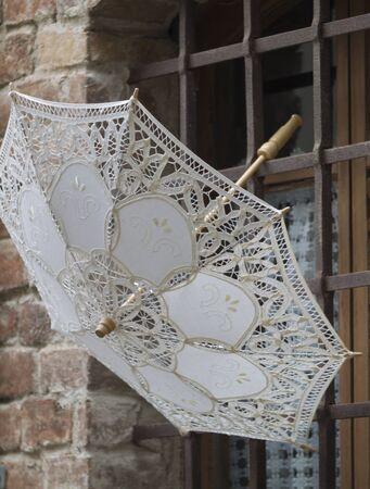 brolly: lacy umbrella