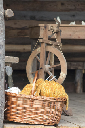 loom: old loom weaving Stock Photo