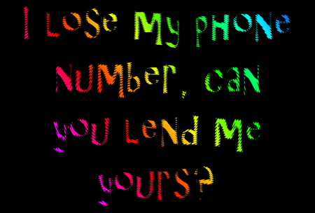 aphorism: phone number joke