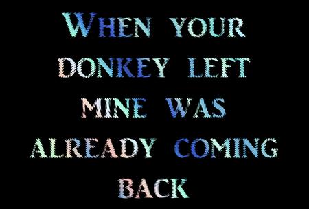 phrases: donkey phrases