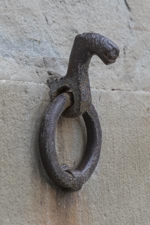 knock: old knock on door Stock Photo