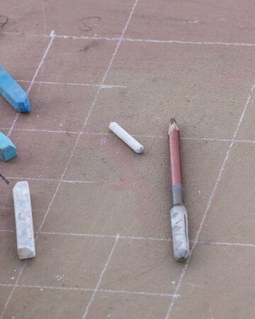 chalks: chalks and pastels Stock Photo