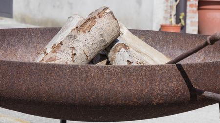 brazier: burning in the brazier Stock Photo