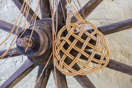batidora: wooden wheel and beater Foto de archivo
