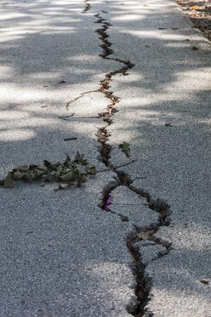 earthquake crack: damage after the earthquake