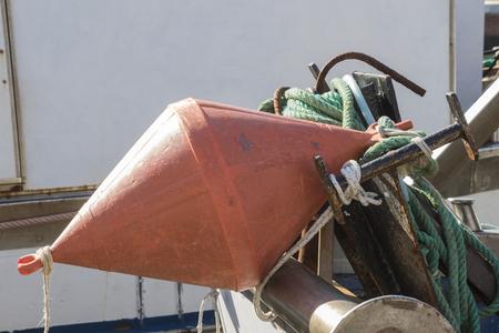 buoy: buoy on boat