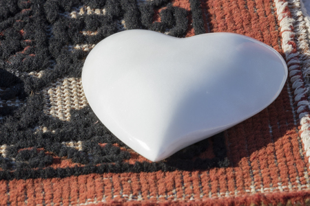 craft on marble: heart carved in marble
