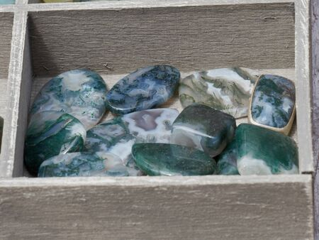 decorative colored green and turquoise stones Stock Photo