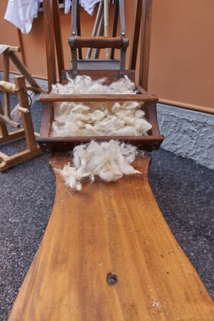 carding: wool carding