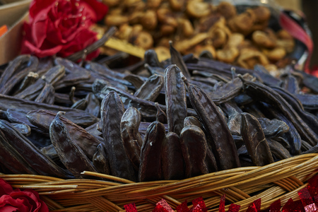 carob in the basket