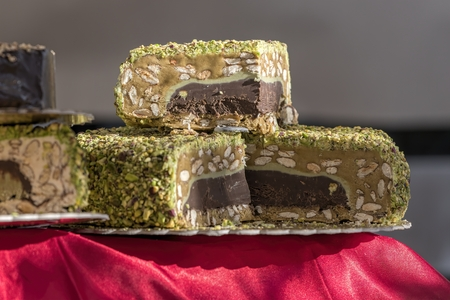 delicious nougat for the holidays Stock Photo