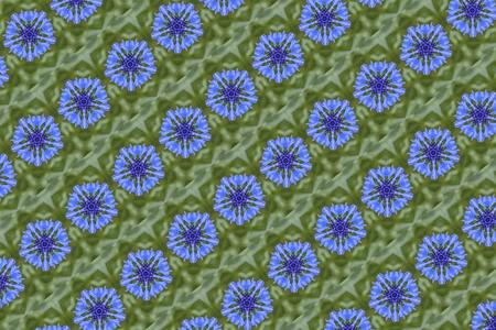 stylized cornflower pattern background