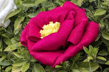 handmade papier mache flowers