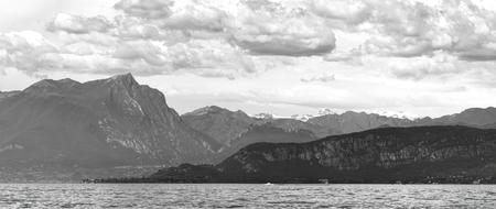 landscape lake with cloud