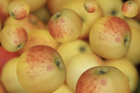waterfall of ripe fresh apples Standard-Bild - 123776948