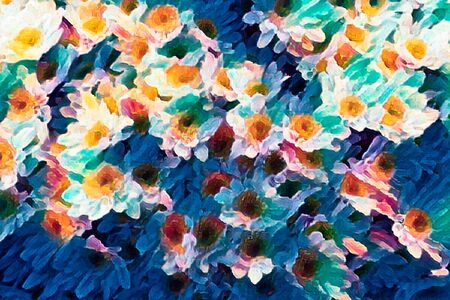 abstract daisy in bloom in spring Imagens