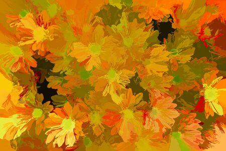 abstract daisy in bloom in spring Archivio Fotografico