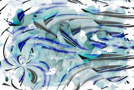 abstract modern creative textured decoration Banco de Imagens