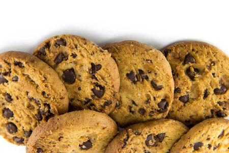 cikolatali: Cookies on a white background.