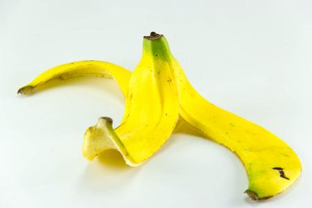 Bananas Skin on white background. photo