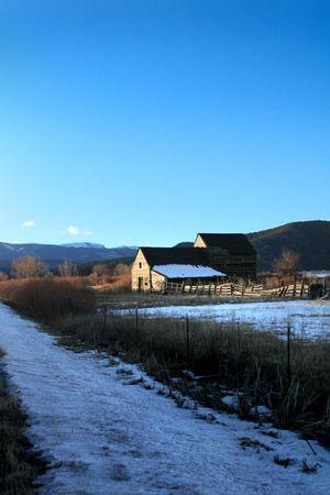 winter: winter farm