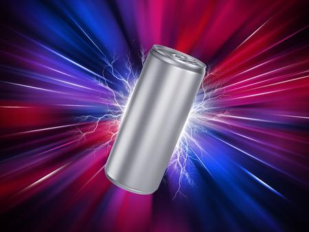 Energía La bebida puede Plantilla