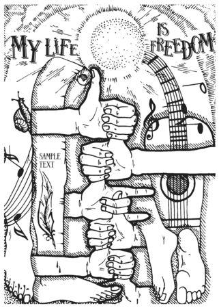 glade: My life is freedom Illustration