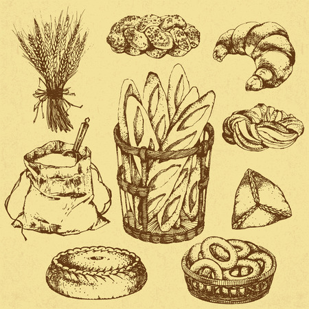 home baking: Illustration of home baking