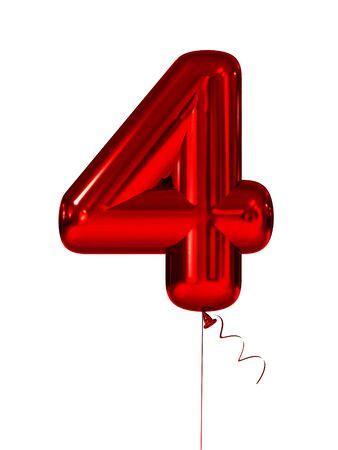 Vier opblaasbare figuren rood. 3d render Stockfoto - 84994743