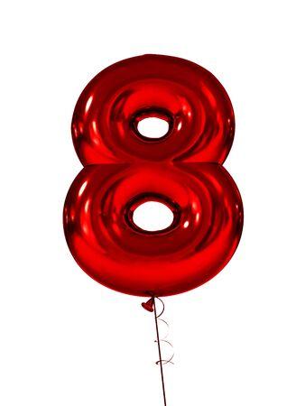 Acht opblaasbare figuren rood. 3d render Stockfoto - 84995897