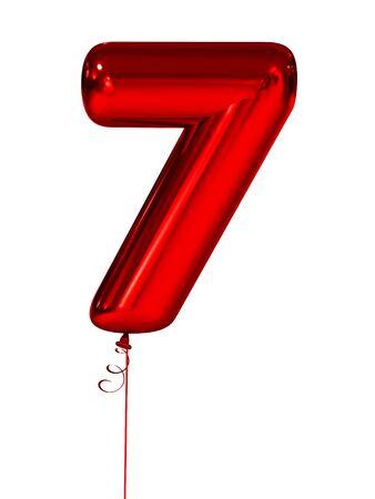 seven Inflatable figures red. 3d render