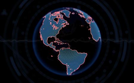 Digitale aarde. 3d render Stockfoto - 84492082