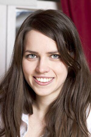 Beautiful young girl closeup portrait studio shot