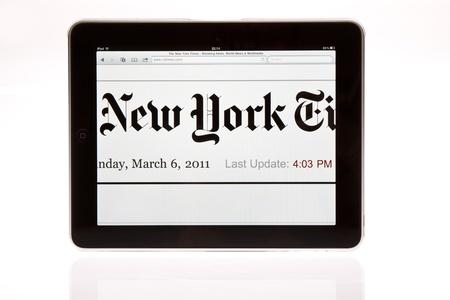 Apple ipad tablet PC isolated on white studio shot