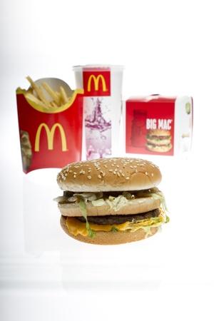 McDonalds Big Mac Menu isolated on white studio shot Stock Photo - 9129139