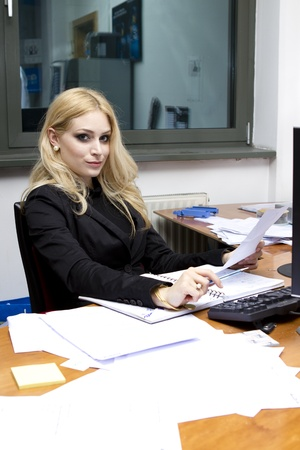 Business Women in the office studio shot