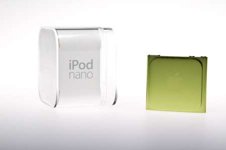 Apple iPod Nano studio shot with original box