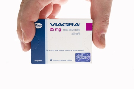 Viagra pills tablets isolated on white background studio shot  Editorial