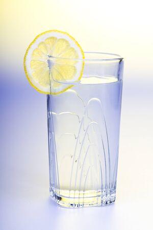 Lemon Water studio shot Stock Photo