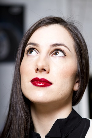 Beautiful young brunette woman portrait