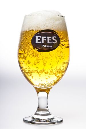 Efes Pilsner Beer studio shot