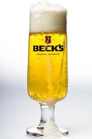Becks Beer studio shot