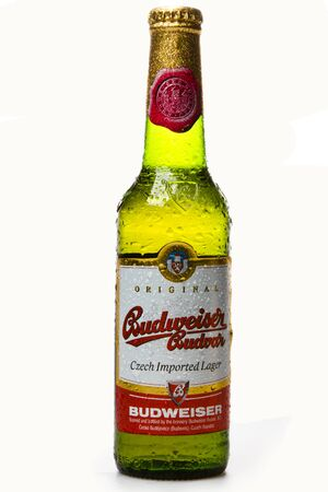 Budweiser Beer studio shot Editorial