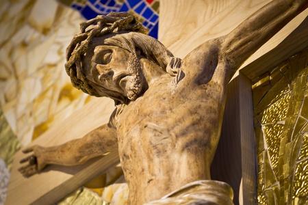 Wooden statue of Jesus Christ, taken in church in Ljubljana, Slovenia.