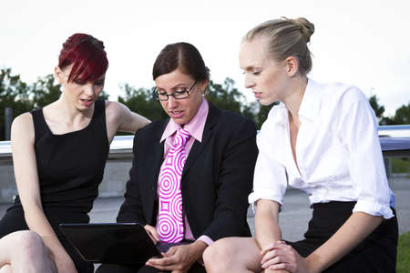 Young business women, outdoor shot