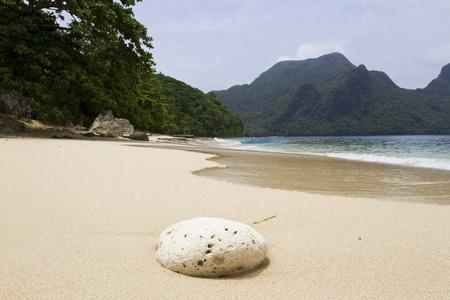 palawan: Playa en la isla de Palawan de Filipinas