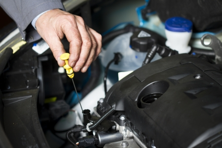 oil change: Oil change at the car shop Editorial