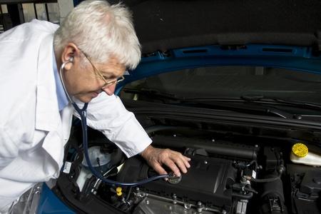 Car doctor at the car shop
