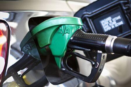 Gas Station pump - petrol Editorial