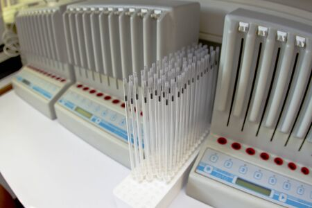 Blood test machine at the medical laboratory